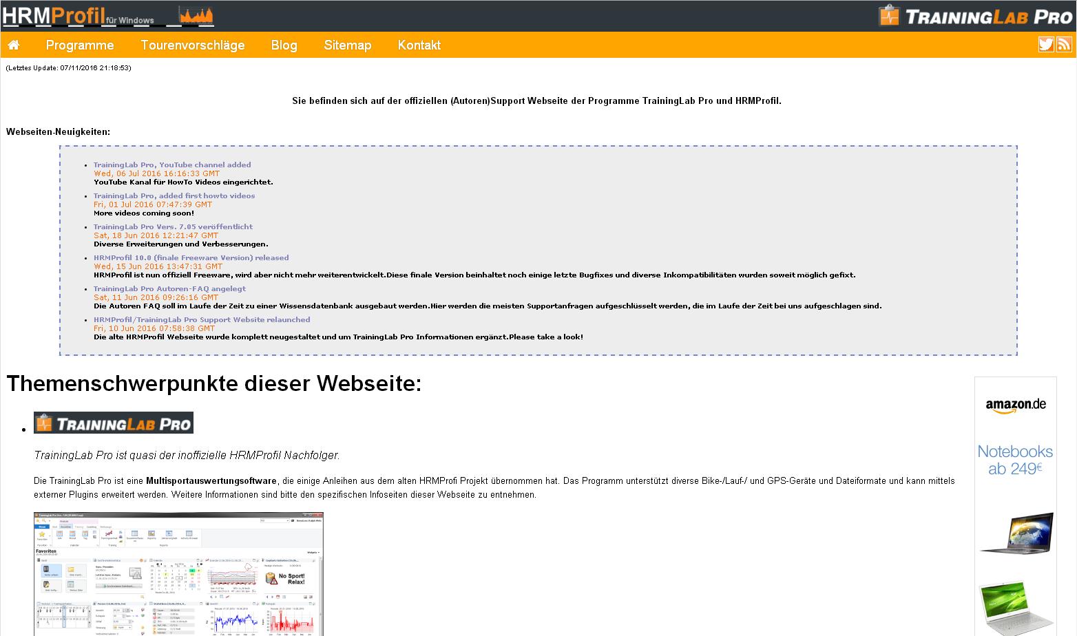 Autoren Support Webseite
